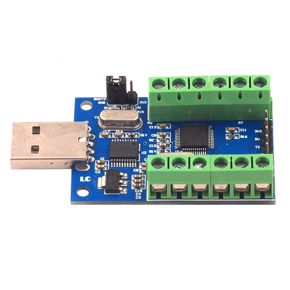 Interface Usb 10 canaux 12 bits Ad échantillonnage Acquisition de données Stm32 Uart Communication Adc Module professionnel