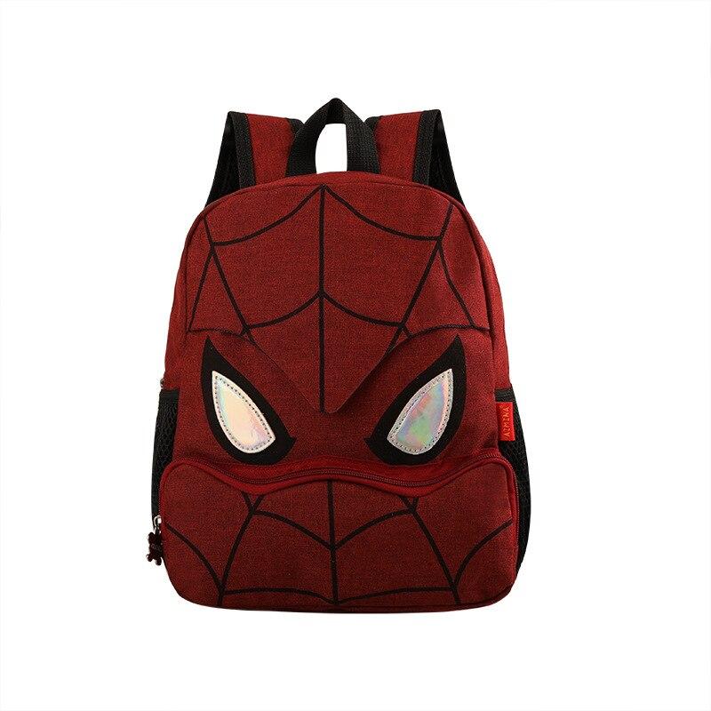 meninos herói dos desenhos animados crianças escola mochila escolar
