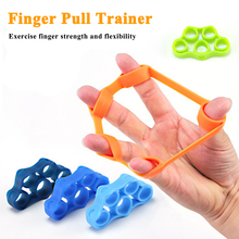 Silicone Finger Gripper Strength Resistance Bands Wrist Yoga Hand Grip Stretcher Expander Arm Exercise Fitness Trainer