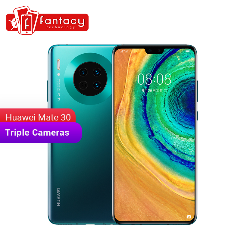 New Huawei Mate 30 6GB 128GB Smartphone 40MP Triple Cameras 24MP Front Camera 6.62'' Full Screen Kirin 990 40W QC 4200mAh