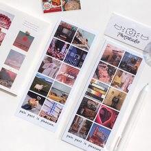 Jianwu 8 folhas estilo retro fresco adesivos diário scrapbook colagem filme foto série decorativo diy diário adesivos de papelaria