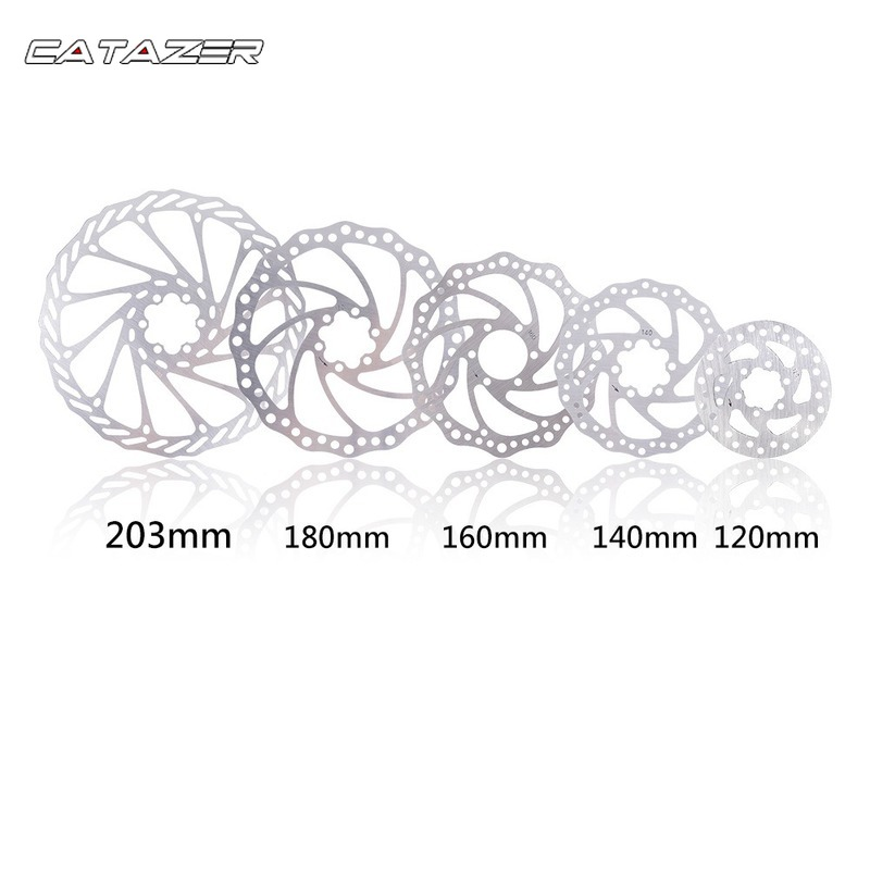 120/140/160/180/203mm Rotor Disc Brake Rotor Bicycle Mountain Bike Threaded Hubs Disk 6 Bolt Flange Adapter Bike Part image