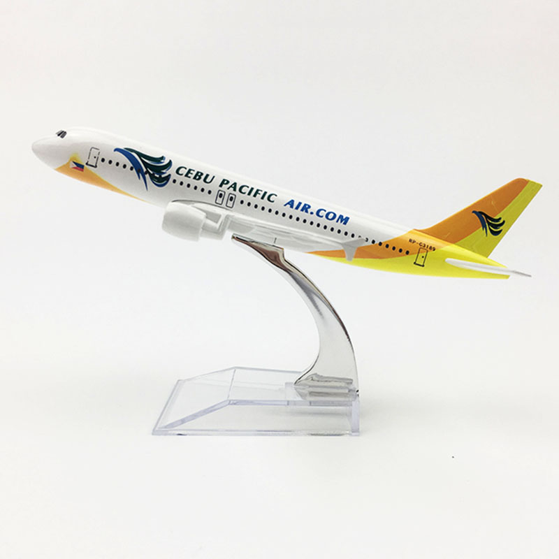 16CM 1/400 Airplane Airbus 320 A320 CEBU PACIFIC Airline Plane Model Alloy Airframe W Base Airplane Kid Toys Fixed-wing Aircraft