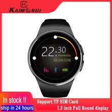 Kaimorui kw18 relógio inteligente dos homens da frequência cardíaca tf sim cartão relógio telefone feminino smartwatch bluetooth chamada conectar para xiaomi huawei io
