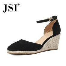 Jsi/Базовая женская обувь; Кожаные туфли лодочки на танкетке;