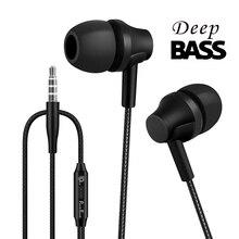 Punnkfunnk Bedrade Koptelefoon Sport Headset 1.2M In Ear Deep Bass Stereo Oordopjes W/Mic Voor Iphone Samsung Huawei xiaomi Vivo Oppo