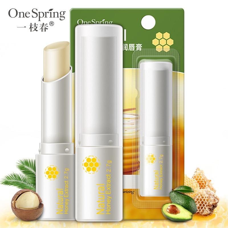 Honey Lip Balm Fresh Plant Lasting Hydrating Moisturizing Anti-Crack Lighten Lip Lines Lip Care Lipstick Women New TSLM1