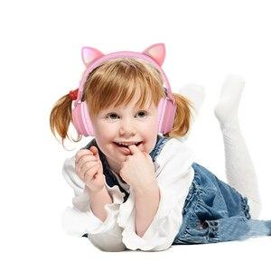 Image 3 - Mignon fille Bluetooth 5.0 musique casque sans fil RGB lumière LED chat oreille stéréo enfants casque de jeu casque pour téléphone mobile cadeau