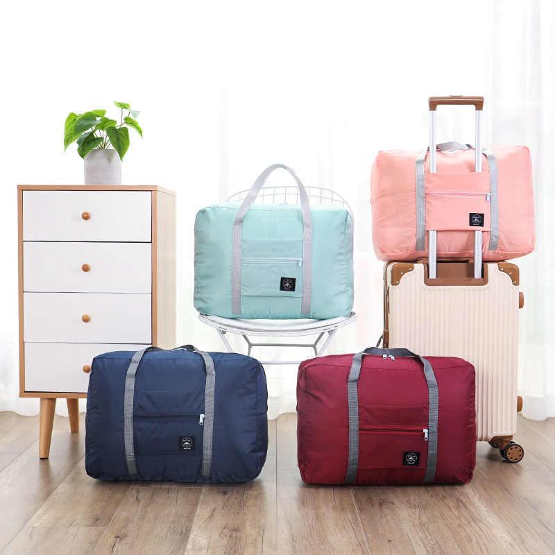 Viagem de negócios saco de armazenamento de mão grande capacidade dobrável roupas organizando storgage saco de viagem trole bagagem