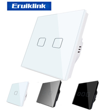 EU Standard SESOO 1 Gang 1 Way Light Touch Switch ,Wall Light Touch Screen Switch,Crystal Glass Panel Wall Switch For Smart Home funry smart home eu standard touch wall light switch 170 240v 1 gang 1 way waterproof crystal tempered glass panels