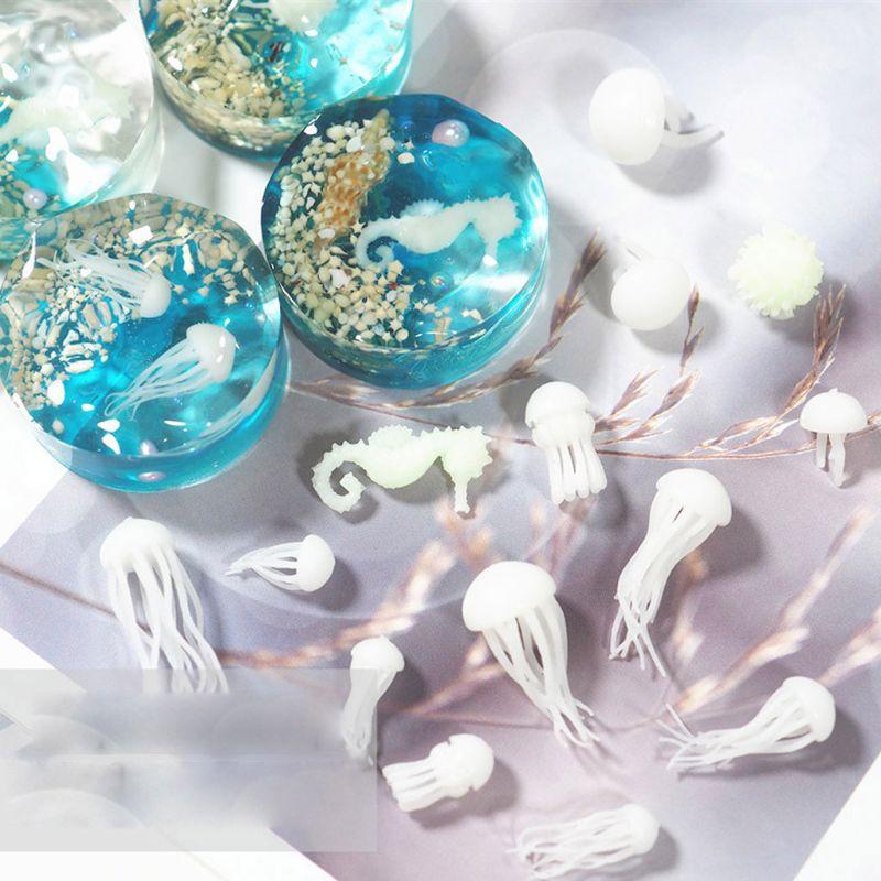 Mini Jellyfish Modeling Resin Mold Ocean Theme Fillers DIY Filling Materials