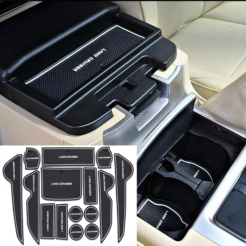 Accessories For Toyota Land Cruiser 200 FJ200 LC200 2008-2014 2015 2016 2017 2018 2019 Rubber Non-Slip Interior Door Mat 15PCS