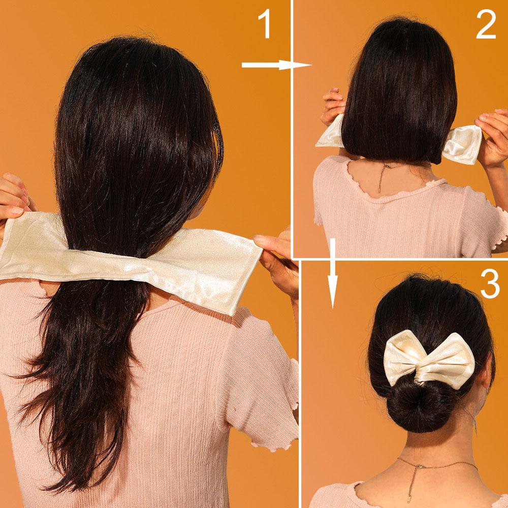 1PC Deft Bun Women Hair Styling Headband Hair Twist French Stylish Hair Bun Vintage Party Hair Styling Buns For Women