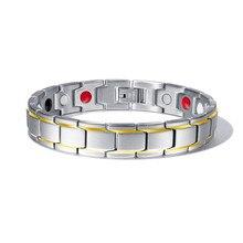 Мужские браслеты с магнитным гематитом, медный браслет с застежкой-крючком, терапевтические браслеты, мужские ювелирные изделия для здоровья