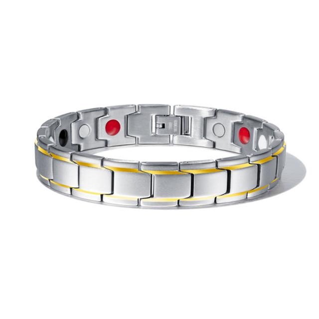 Men's Bracelets Abrray Magnetic Hematite Copper Bracelet