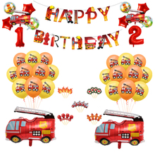 Balloon Confetti Cars Birthday-Party-Decorations Fire-Truck Baby Shower Boy WPGJM Kids