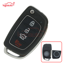 Kigoauto 4 Buttons Flip Folding Remote Key Shell Fob Case For HYUNDAI Mistra Santa Fe Sonata Tucson Accent I30 I40 I45 2 1 buttons smart keyless remote car key fob 315mhz for hyundai elantra tucson santa fe 3 buttons replacement key transmitter