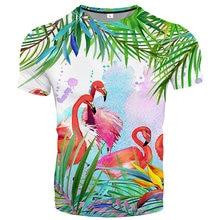 2021 summer new 3D printing T-shirt animal printing men's T-shirt printing casual T-shirt O-neck hip-hop short-sleeved S-6XL