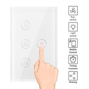 Image 2 - Wifi Smart Plafond Ventilator Licht Wandschakelaar Leven Tuya App Remote Diverse Snelheidscontrole Interruptor Compatibel Voor Alexa Google Thuis