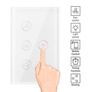 Image 2 - Wifi Thông Minh Quạt Trần Đèn Treo Tường Công Tắc Đời Tuya Ứng Dụng Từ Xa Khác Nhau Điều Khiển Tốc Độ Interruptor Tương Thích Cho Alexa Google Home