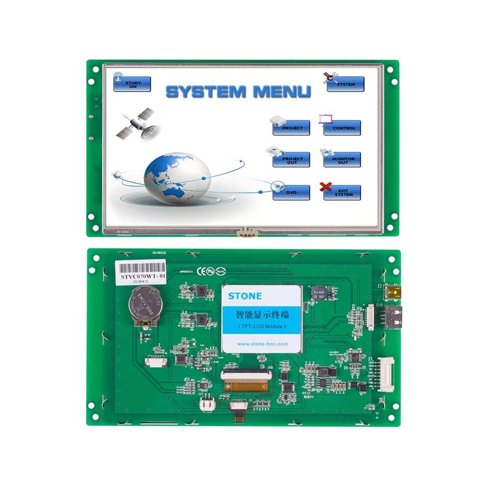 7.0 Smart TFT LCD Module Connect With Any Microcontroller Through Serial Port Via Command Set In Industrial Machinery