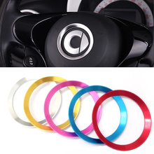 FOR Smart 453 Fortwo Forfour Automotive Accessories Car Steering Wheel Cover Shell Interior Car Decoration Metal Ring