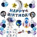Принадлежности для внешнего космоса Водонепроницаемая наклейка для вечевечерние астронавта Декор Детский подарок на день рождения украше...