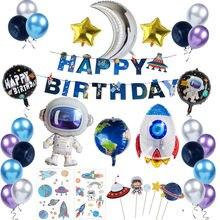 Decoração para festa de astronauta, suprimentos para o espaço exterior, à prova d'água, decoração de festa de aniversário infantil e eventos