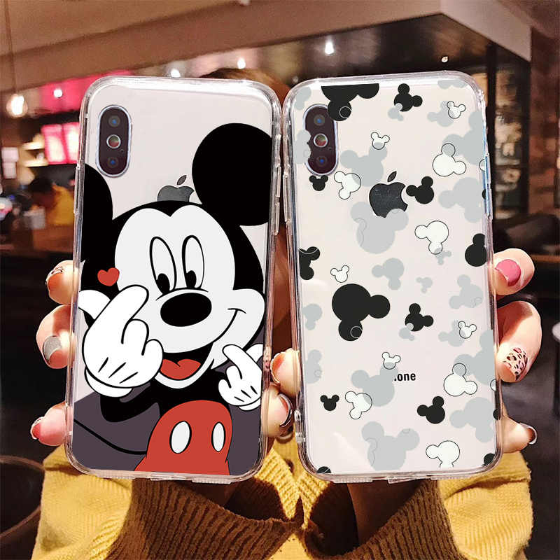 สำหรับ iphone 11 pro max Mickey Mouse DIY Protector สำหรับ iphone 7 7plus X XS MAX 6 6S 8 8Plus 5 5S XR 11 11pro max