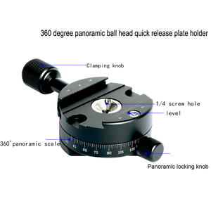 Image 2 - Camera clamp panoramic shooting clamp tripod monopod quick release plate mount rotate clamp for arca plate dslr camera tripod