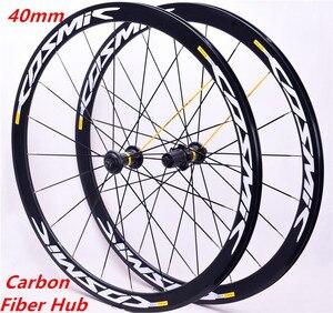 Новый ультра-светильник 700C из углеродного сплава, 40 мм, для дорожного велосипеда, из алюминиевого сплава, подходит для колес