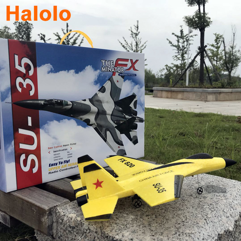 Halolo Plane Hand Throwing foam drone SU35 RC airplane model Fixed wing toy aviones a control remoto juguete toys for boys