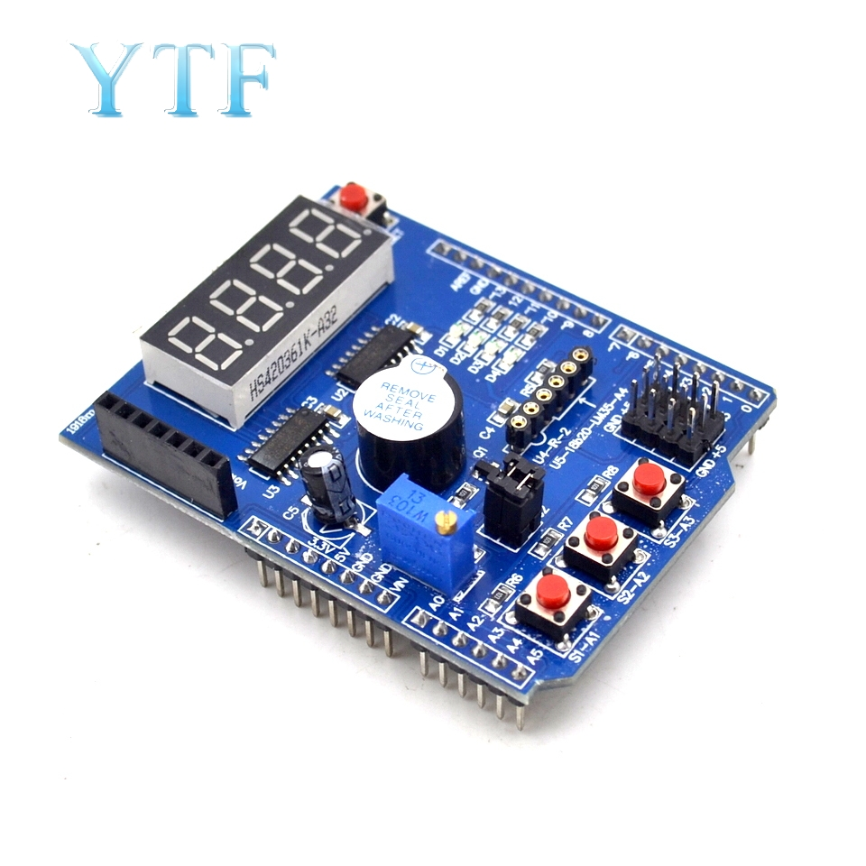Multifunctional Expansion Board Basic Learning Kit Development Board Sensor Interface Extension