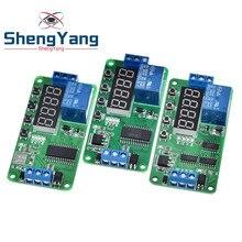 ShengYang – Module PLC multifonction, relais de retard, interrupteur de temps, activation/désactivation, cc 5V 12V 24V, CE030