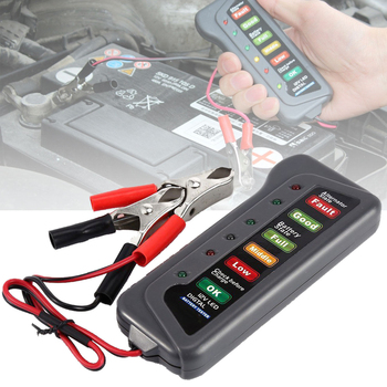 New 12V Car Motorcycle LED Digital Battery Alternator Tester LED Display Indicate Analyzer Automotive Battery Diagnostic Tools image