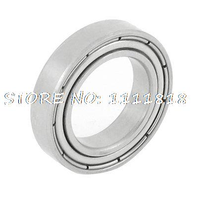 Siver Tone Stainless Steel 23mm OD 15mm ID Deep Groove Ball Bearing