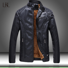2020 New Arrive Mens Faux Leather Jackets Solid Slim Stand Collar Zipper Fashion Coat Mens Motorcycle Leather Jacket Coats