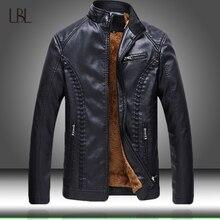 2020 neu Kommen männer Faux Leder Jacken Solide Dünne Stehkragen Zipper Mode Mantel Herren Motorrad Leder Jacke Mäntel