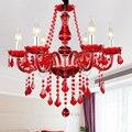 New Modern Rosso lampadari di cristallo per Soggiorno Camera Da Letto sala diserbo lampada interna K9 cristallo lustri de teto lampadario a soffitto