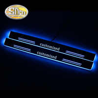 SNCN 4PCS Car LED Door Sill For Infiniti QX70 2013 2014 2015 2016 Ultra-thin Acrylic Dynamic LED Welcome Light Scuff Plate Pedal