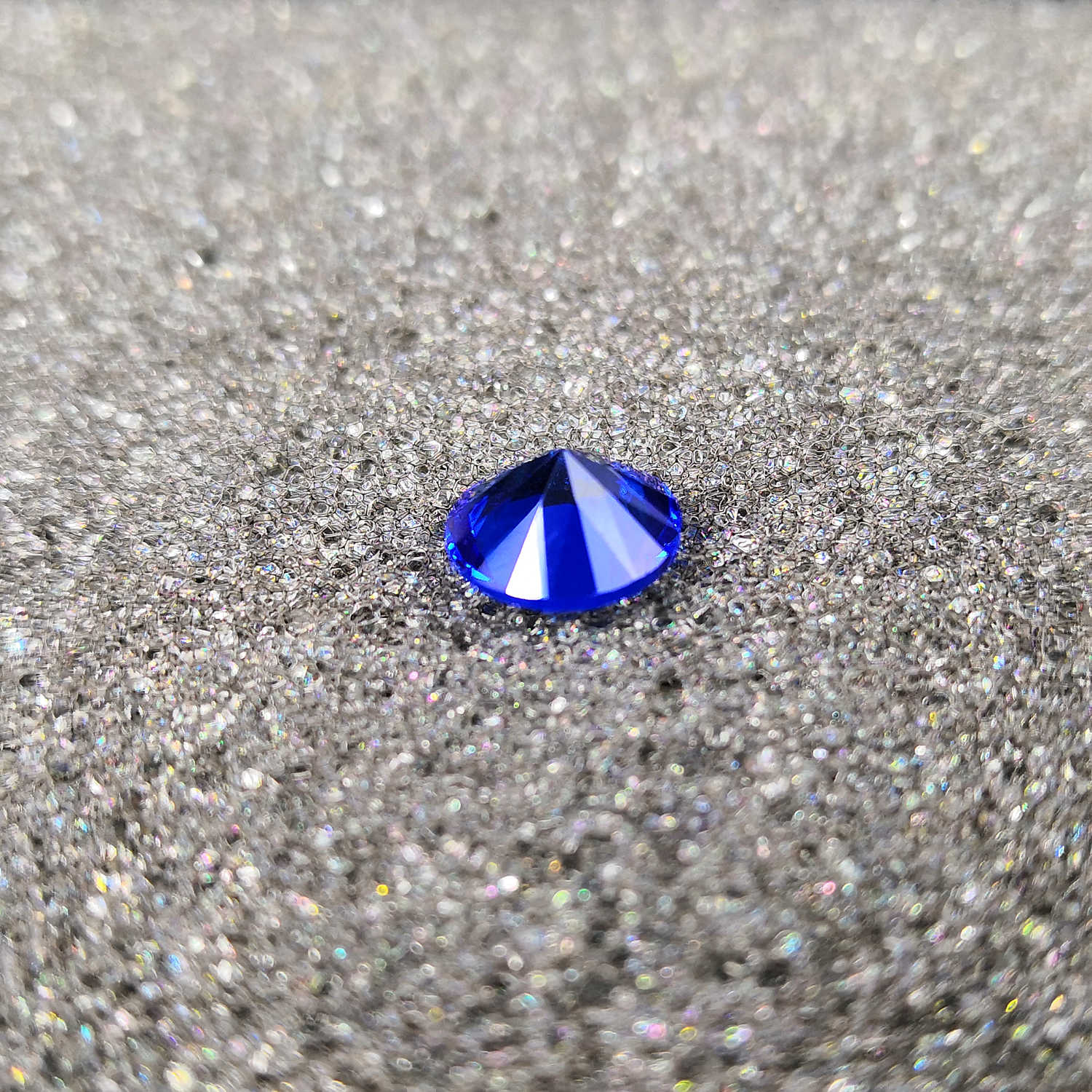 High quality gemstones,Royal blue color glass,Round shape,for jewelry making(1pcs)