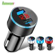 Usb-Car-Charger Samsung S8 Universal Xiaomi Dual iPhone X with Led-Display-Phone