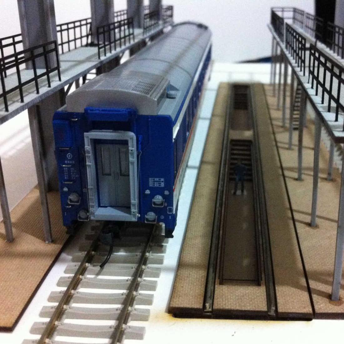 W skali 1: 87 HO pociągu kolejowego dekoracji sceny pociąg konserwacji garażu Model dla piaskownica stołowa