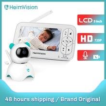 Heimvision hma36mq 5.0 Polegada monitor do bebê com câmera de vídeo sem fio cor 720p hd babá segurança visão noturna temperatura câmera