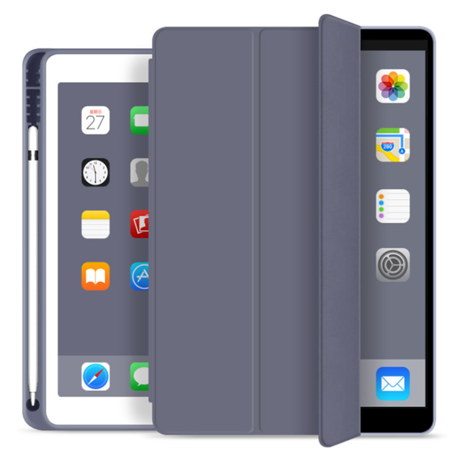 iPad 7 7th gary Other For iPad 10 2 7th Generation Case with Pencil Holder for iPad 2019 10 2 Slim