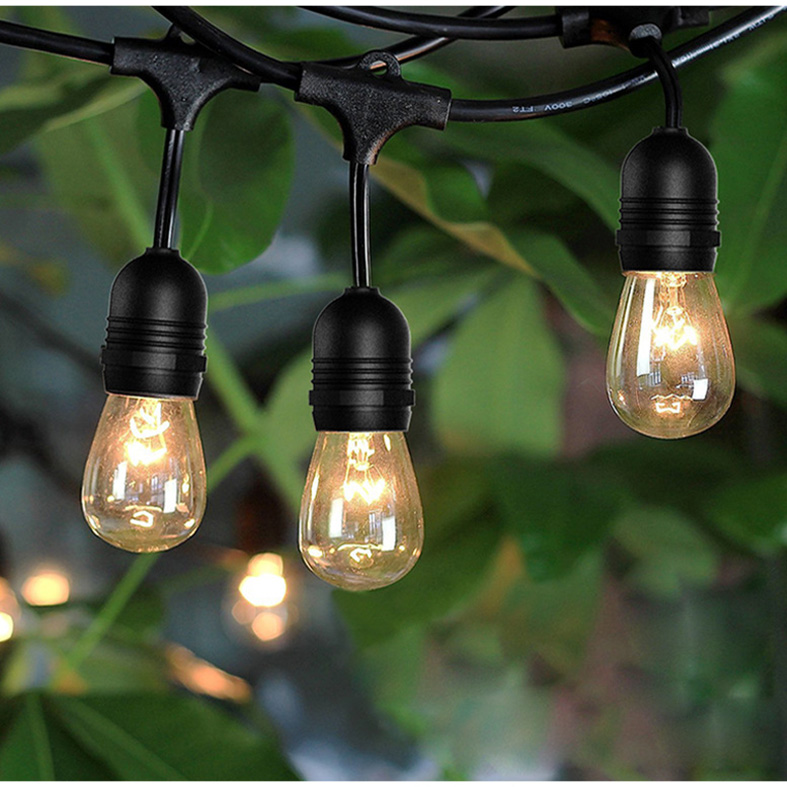 String Lights 48ft S14 E26 Bulbs