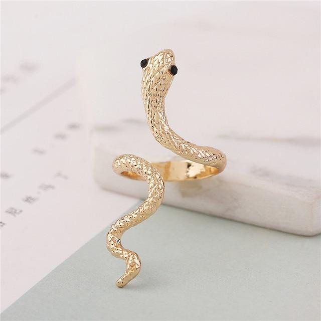 Bague serpent doré