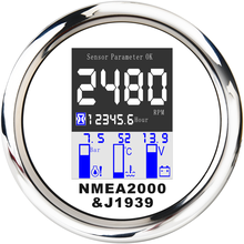 Alarm NMEA2000 Tachometer 85mm SPR for 9-32v/Water-temp-oil/Pressure-0--10bar with 4-In-1