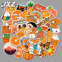 50Pcs/pack Cartoon Cute Orange VSCO Stickers for Luggage Phone Case Guitar Fashion Decor PVC Waterproof Stickers