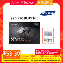 SAMSUNG SSD M.2 1 ТБ 250 GB 500 GB 970 EVO плюс NVMe Internal Solid State Drive жесткий диск M2 2280 MLC PCIe Gen 3,0x4, NVMe 1,3 ssd жесткий диск  жесткий диск для ноутбука жесткий диск для компьютера